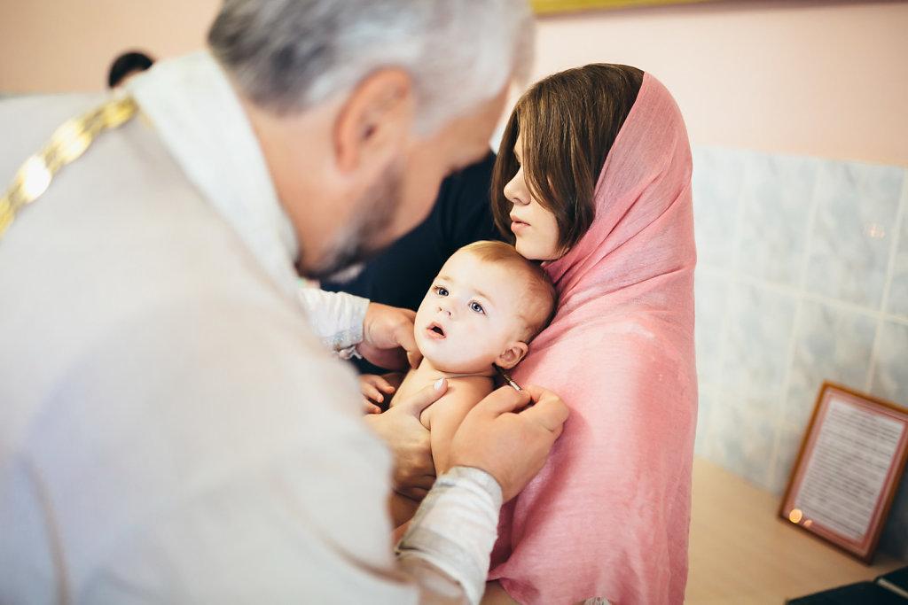 Обряд крещения Михаила Максимовича